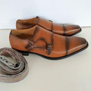 Vincent Cavallo Monk Strap Belt Dress Shoe Size 13